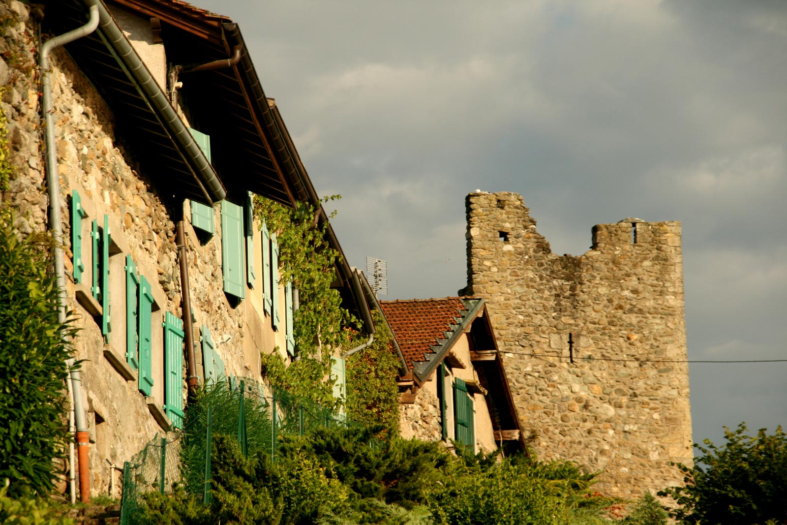 Some houses were built into the ramparts of Yvoire.