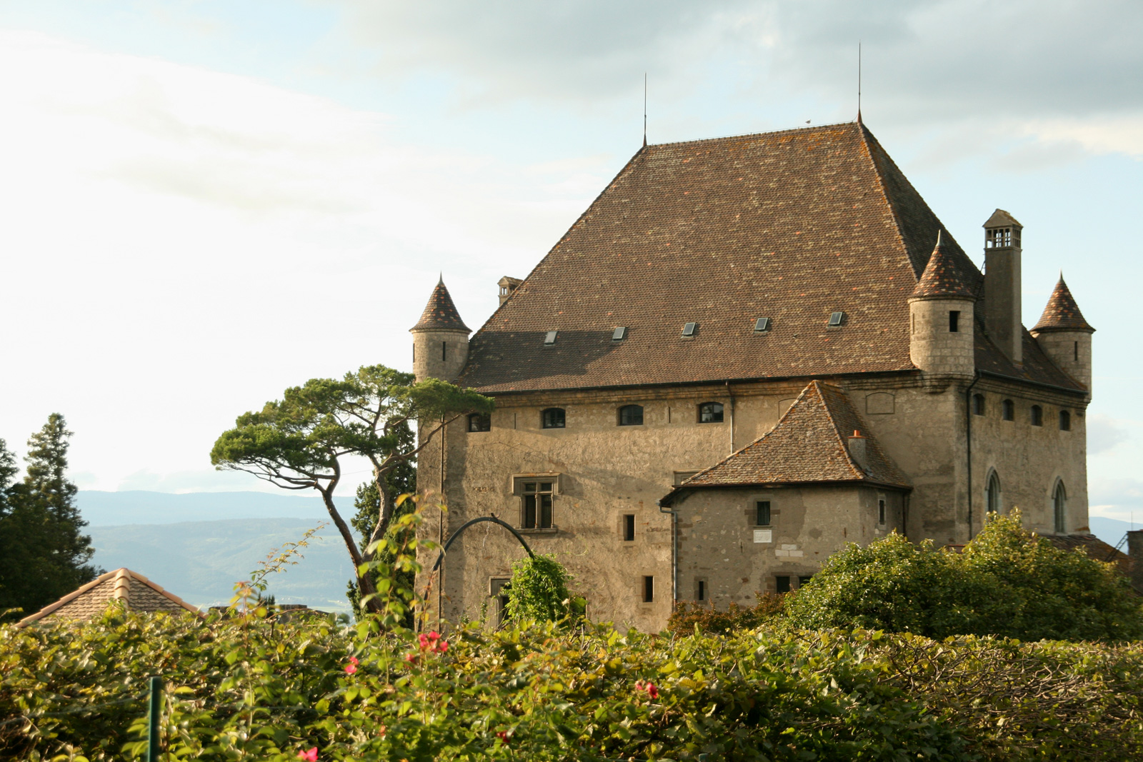 Yvoire castle and the Garden of Five Senses