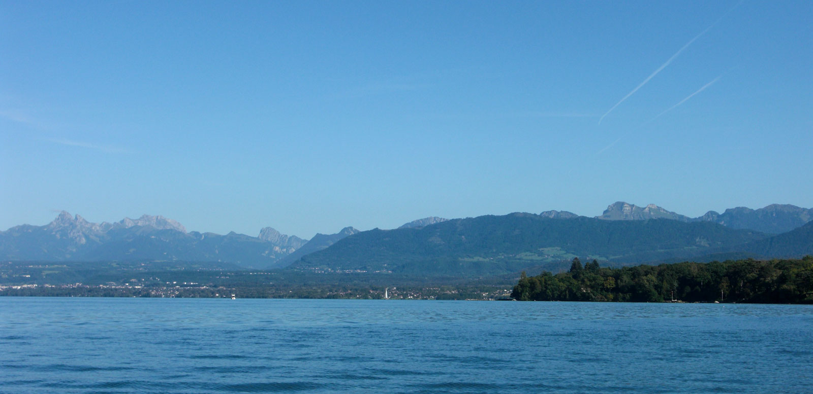 Lake Geneva and the Alps.