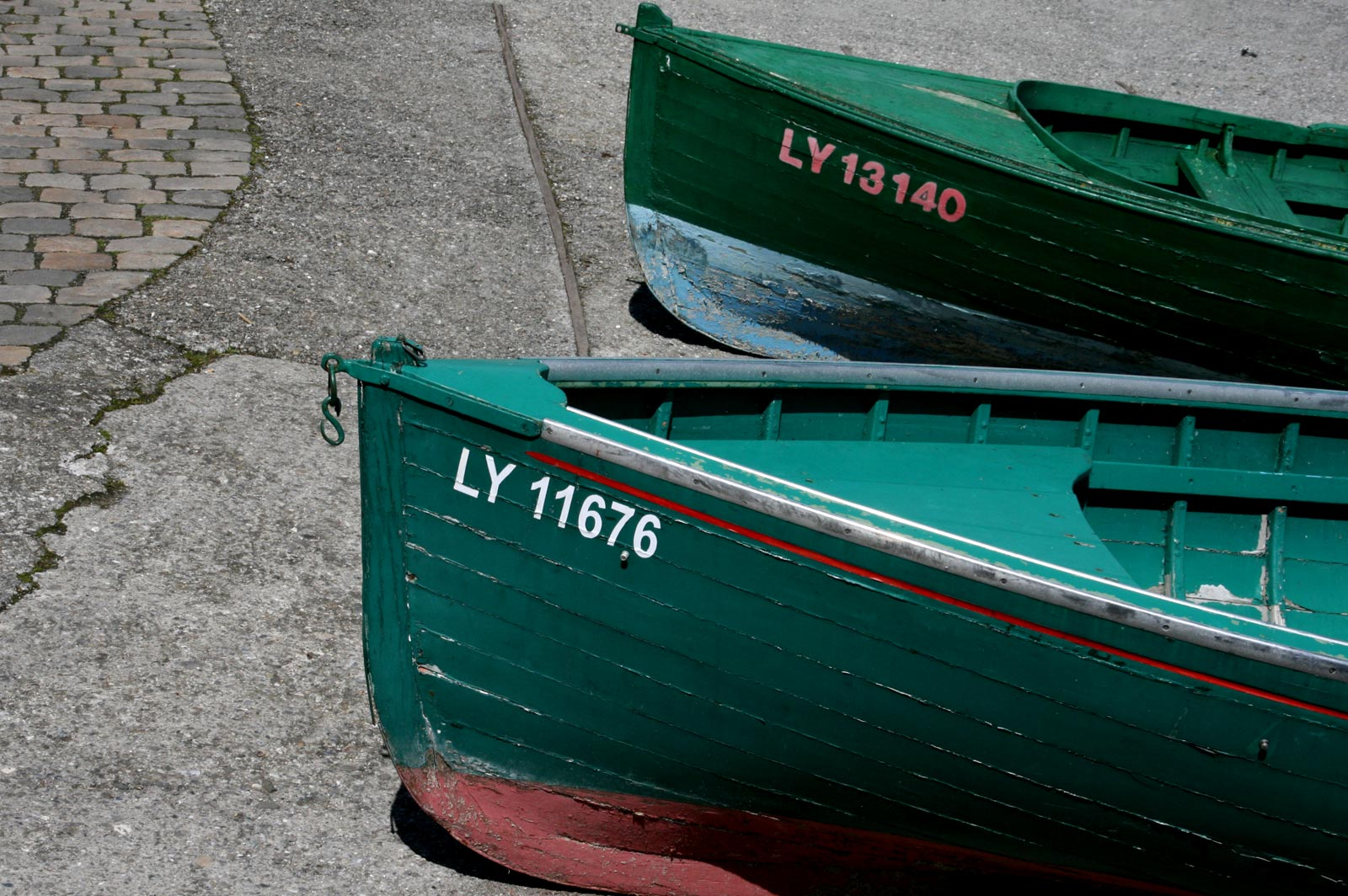 The fishermen's boats in the port of Yvoire.