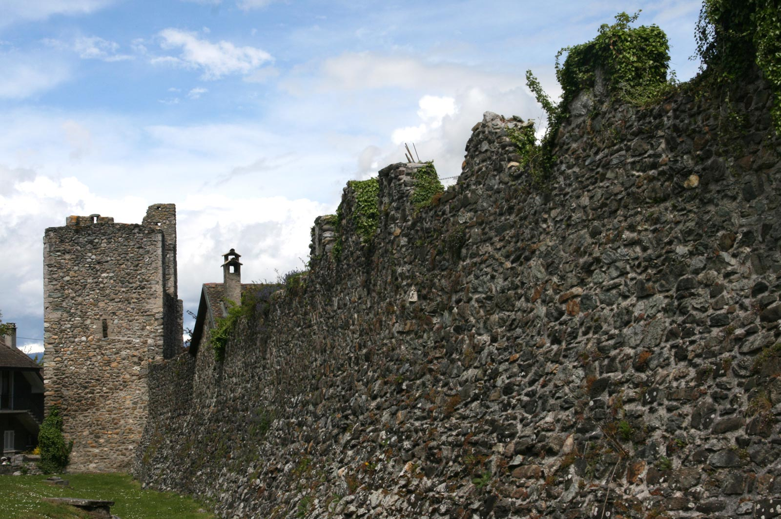 The ramparts of the medieval village of Yvoire