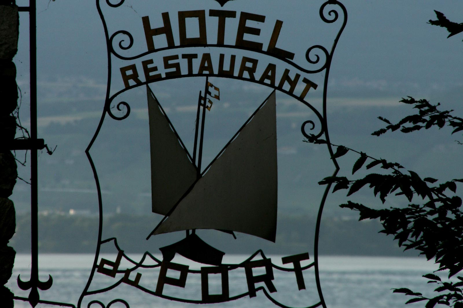 Hotel and restaurant of the Port, Yvoire.